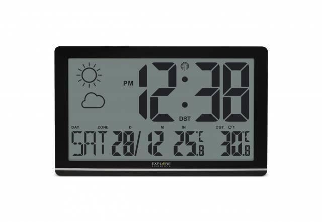 EXPLORE SCIENTIFIC Jumbo LCD Wetter-Wanduhr