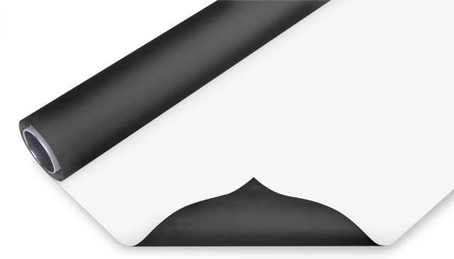 BRESSER Fondale in Vinile 2x6m bianco/nero