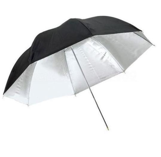 BRESSER SM-11 Parapluie réflecteur blanc/noir 83cm