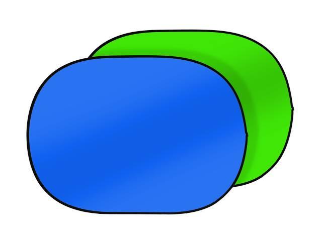 BRESSER TR-3 Fondale pieghevole 180x225cm verde/blu