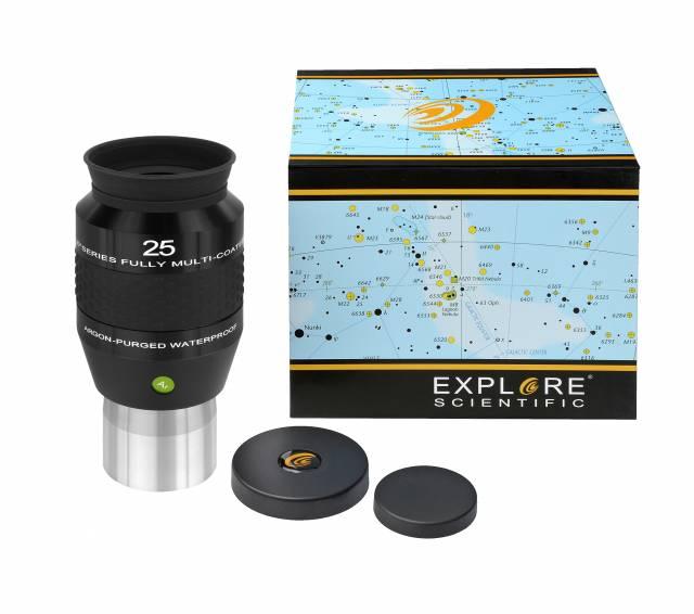 """EXPLORE SCIENTIFIC 100° Ar Eyepiece 25mm (2"""")"""