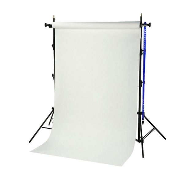 Sistema de fondo de estudio BRESSER BR-TP240 de 240 cm de altura + rollo de papel de 1,35x11 m blanco ártico