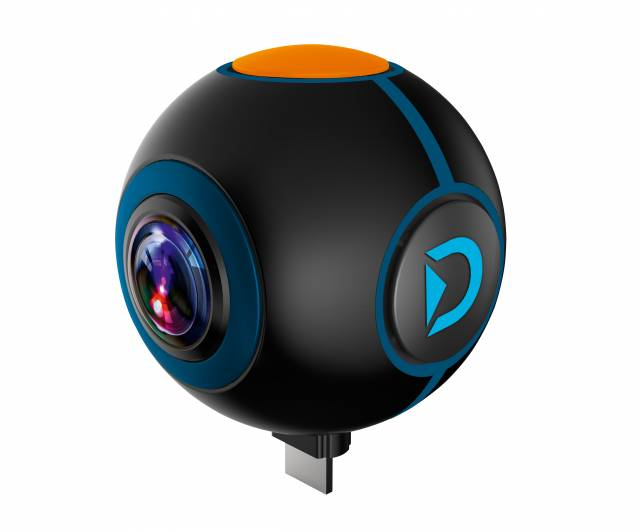 DISCOVERY ADVENTURES HD 1024P 720° Android Action Camera Spy