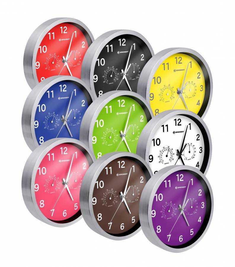 BRESSER MyTime MSF Thermo-/ Hygro- Wall Clock 25cm - UK/IRELAND VERSION