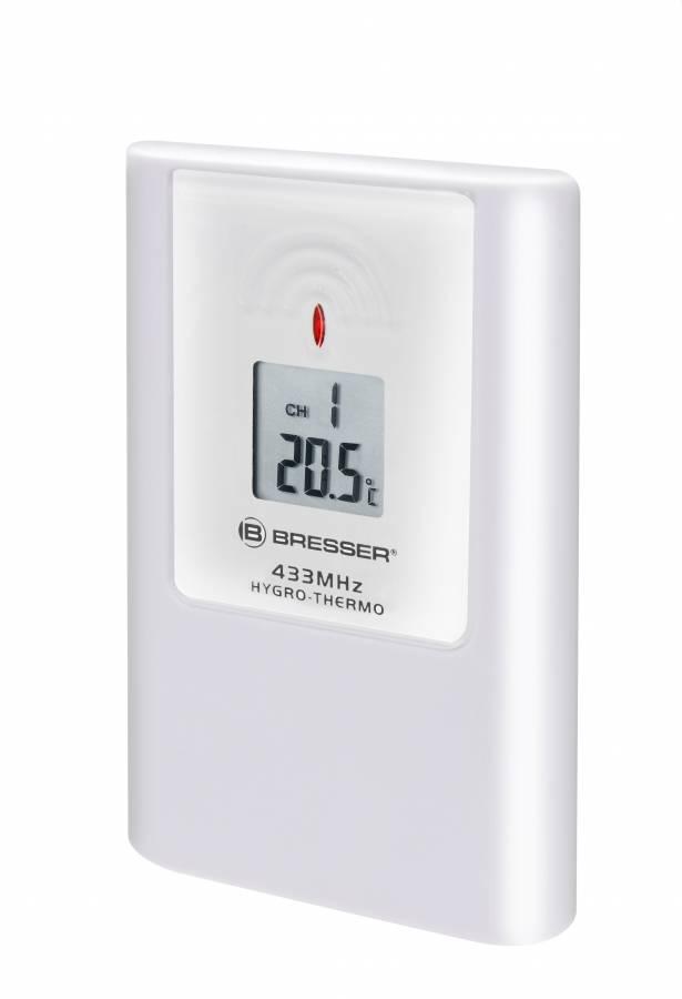 BRESSER Thermo-/Hygro-Sensor 3CH für Temeo MC/TB und die meisten Produkte der TemeoTrend Serie