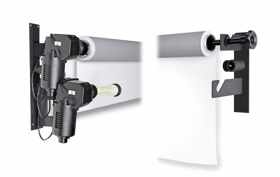 BRESSER MB-2Y Soporte de pared eléctrico para 2 Fondos de estudio