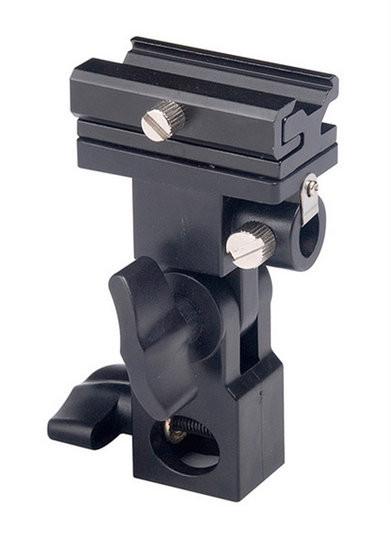 BRESSER JM-12 Soporte universal para flash con adaptador de paraguas