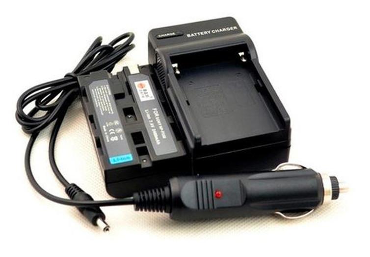 BRESSER Ladegerät + 2x Akku NP-F550 kompatibel