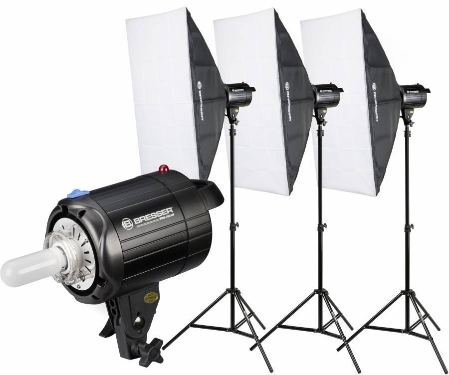 Set de Flashes de Estudio BRESSER BRM-300AM 3x 300W