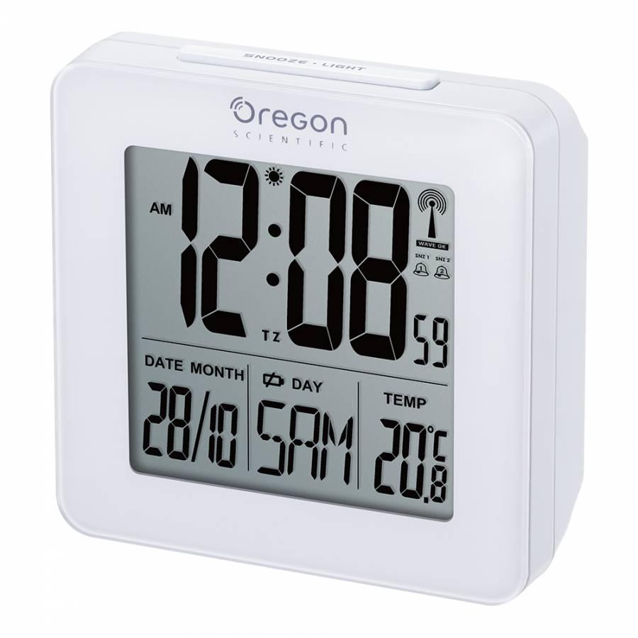 Oregon Scientific Funkwecker mit Raumtemperaturanzeige - weiß