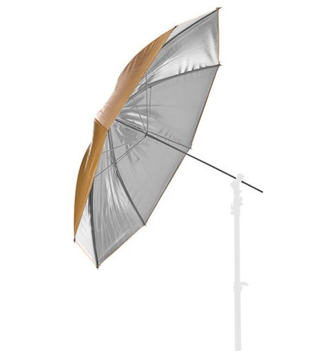 BRESSER Umbrella gold/silver 83cm interchangeable