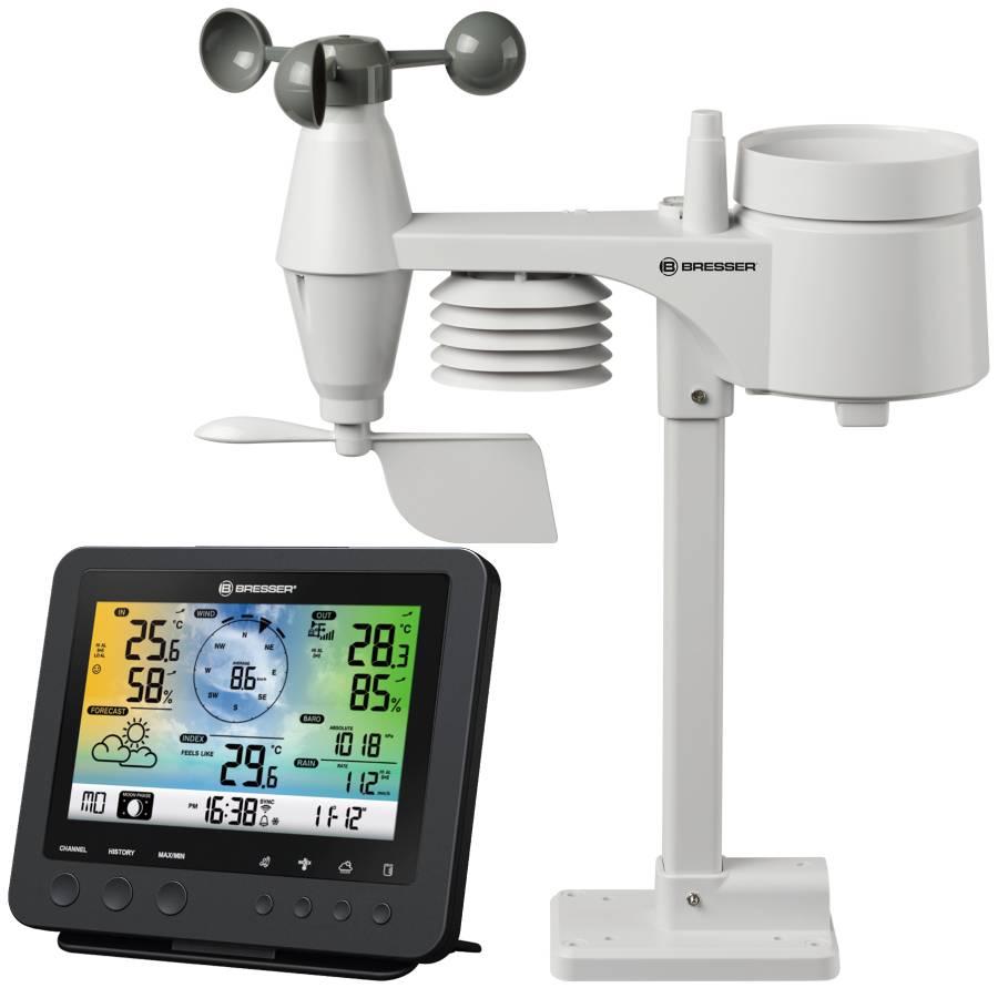 BRESSER Centro meteorológico color 5-en-1 Sensor-Profesional Wifi
