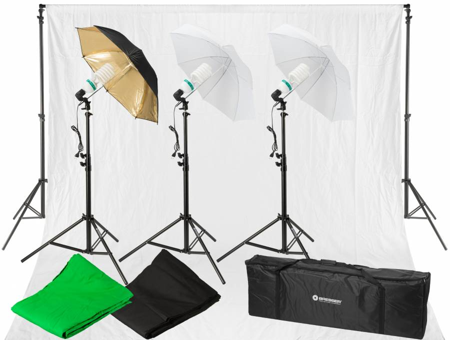 BRESSER BR-2120 Daylight and Background Set 1600W