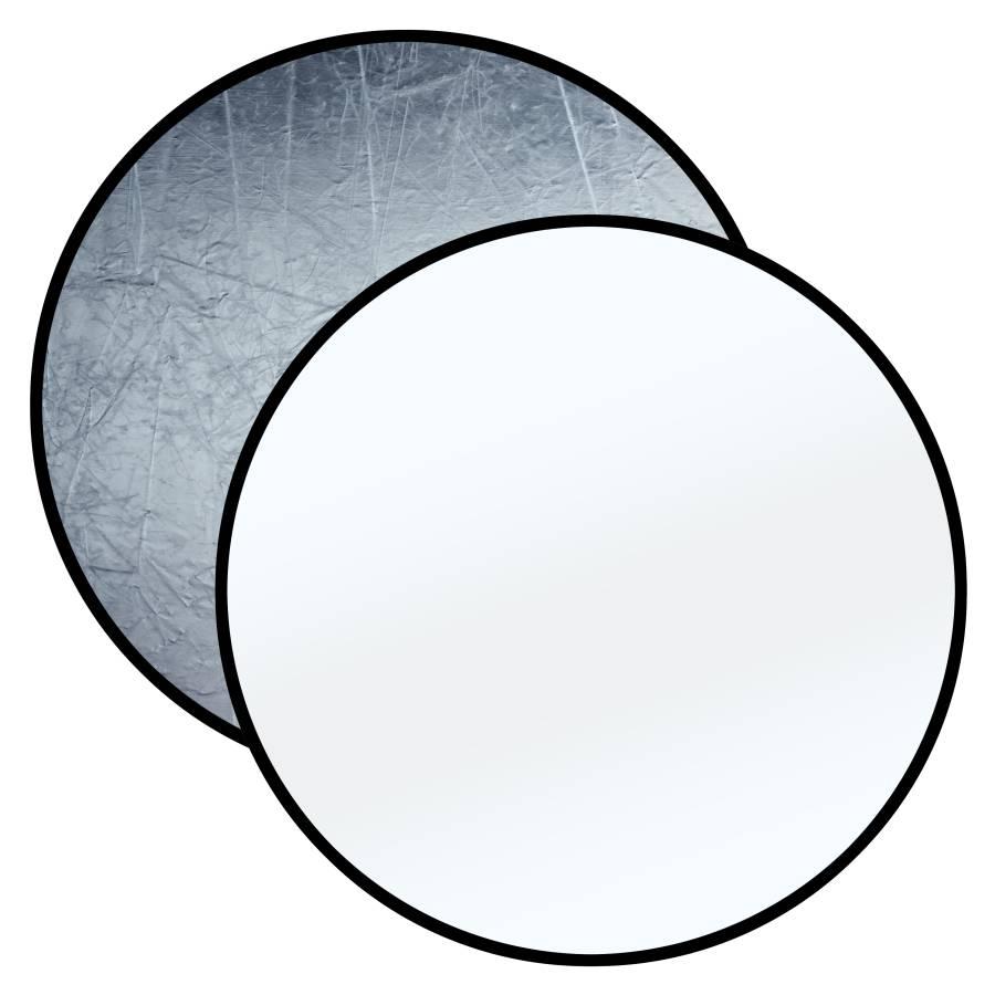 BRESSER BR-TR8 2-in-1 Faltreflektor silber/weiß 110cm rund
