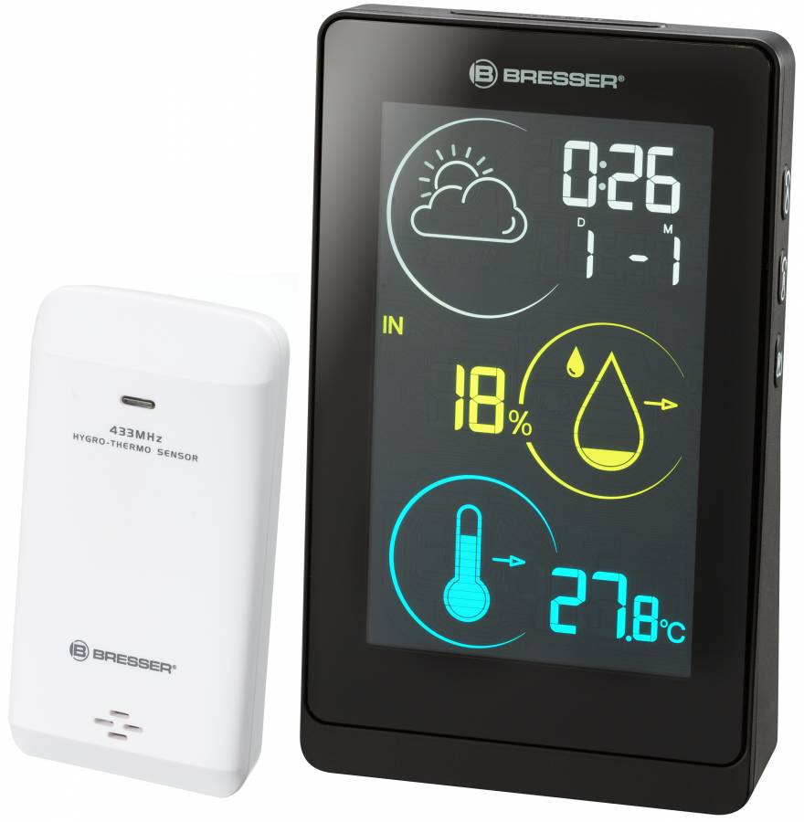 BRESSER Colour weather station Temeo Life H