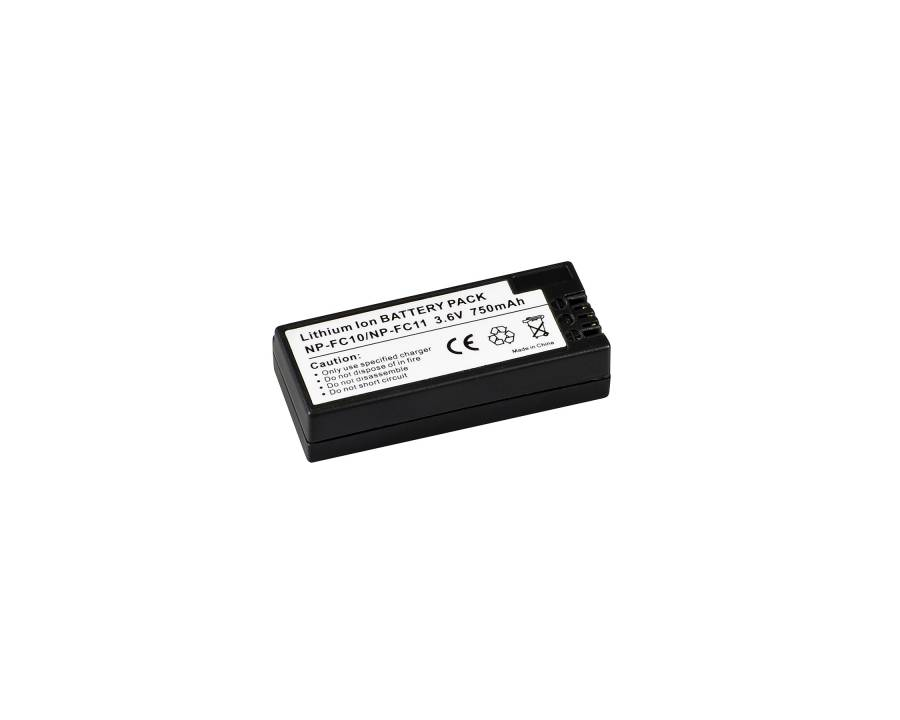 BRESSER Batteria ricaricabile agli ioni di litio / Batteria sostitutiva per Sony NP-FC11