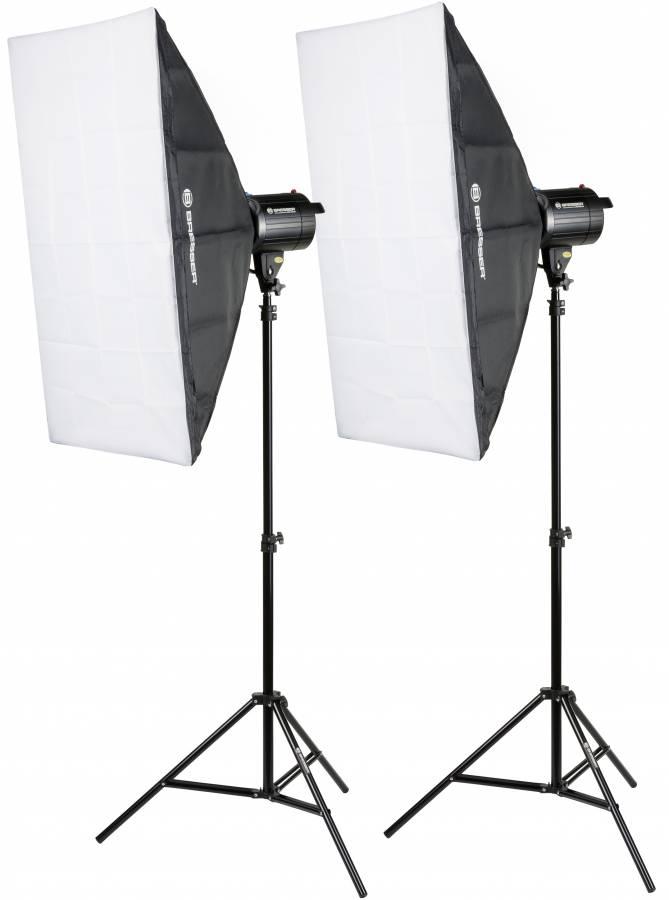 Set di Flash da Studio BRESSER BRM-300AM 2x 300W