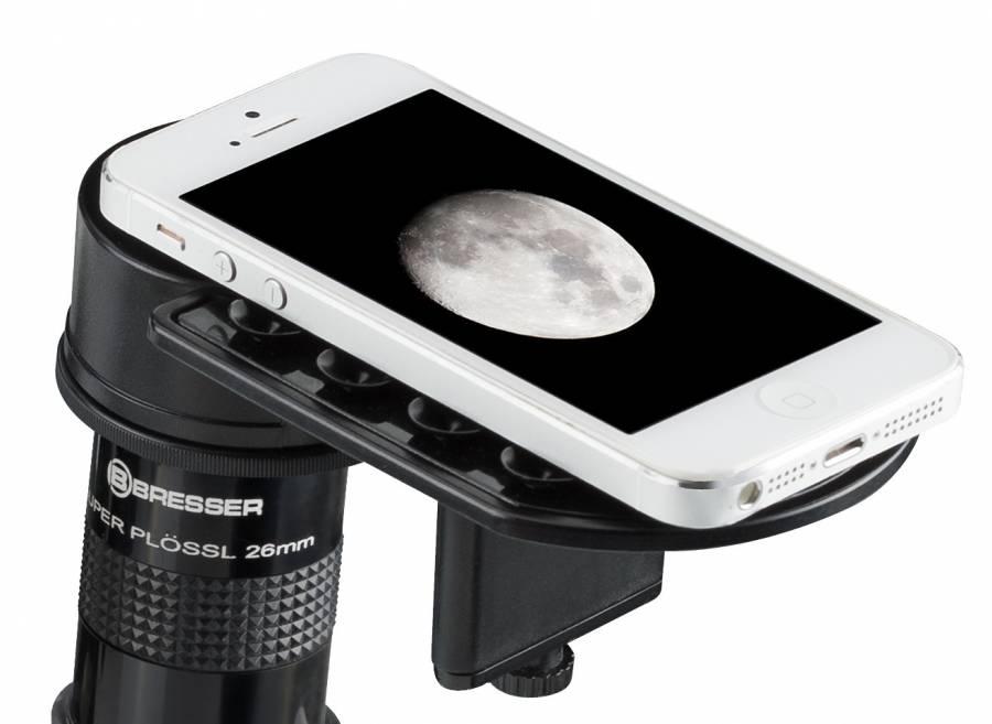 Soporte para Smartphone BRESSER Deluxe para Telescopios y Microscopios