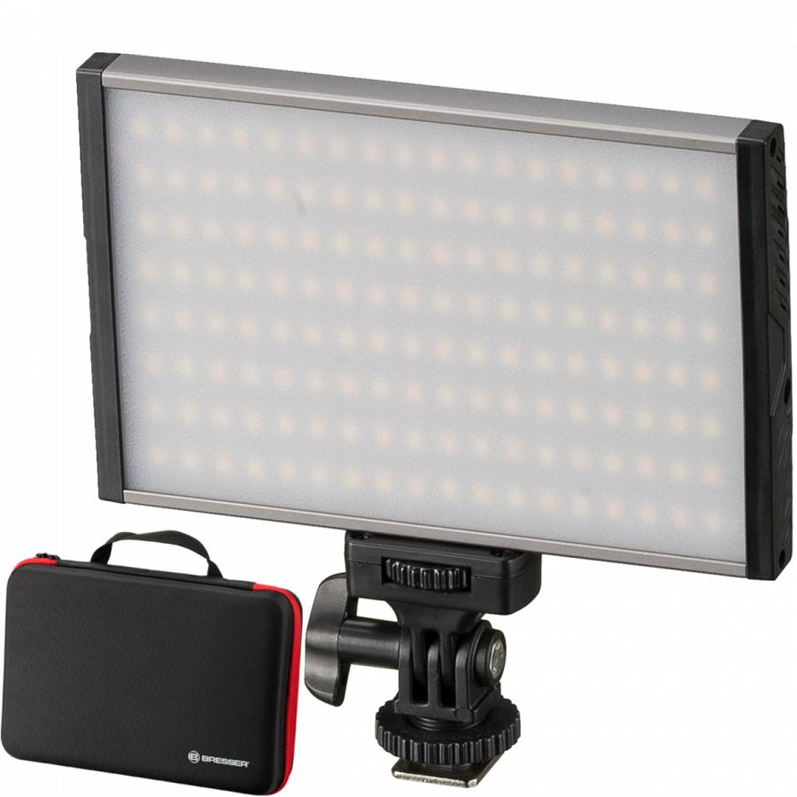 Pannello luminoso BRESSER PT Pro 15B Bi-Color a LED con custodia