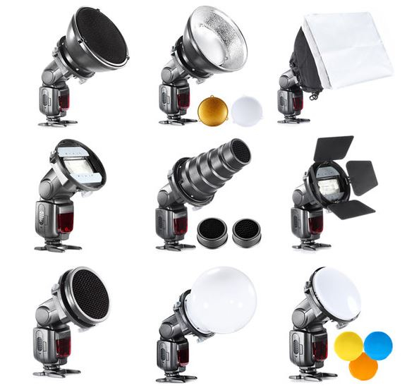 BRESSER BR-SET7 7-piece Light Shaper Set for Camera Flashes