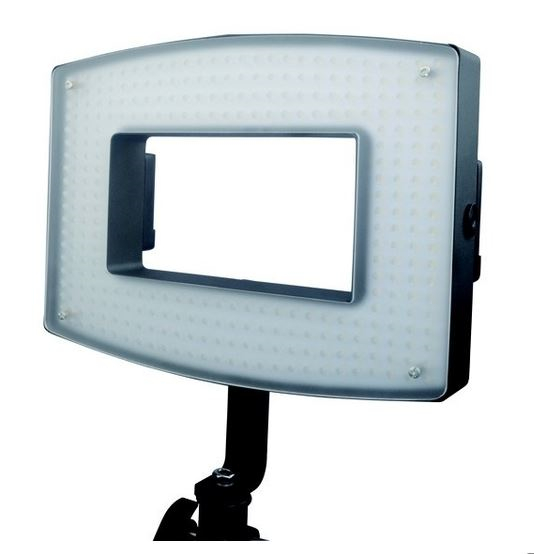 "BRESSER LED PH-386 rectangular ""Ring Light"" with Mains Cable and Accumulators"