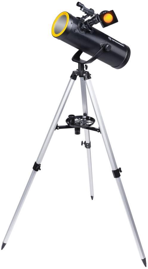 BRESSER Solarix AZ 114/500 Carbon Design Telescop Starter Kit
