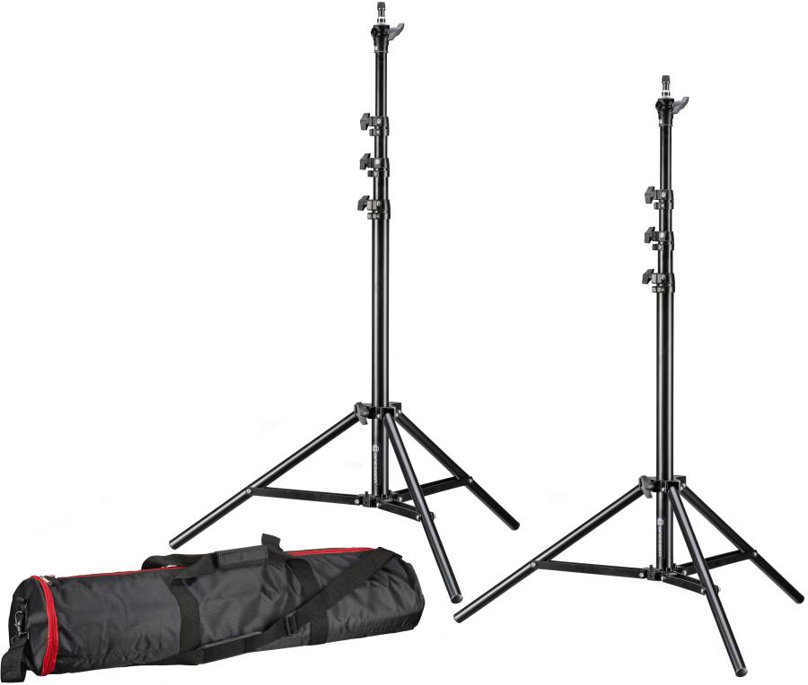 BRESSER 2x BR-TP240 PRO-1 Stativ (240 cm) + Tasche