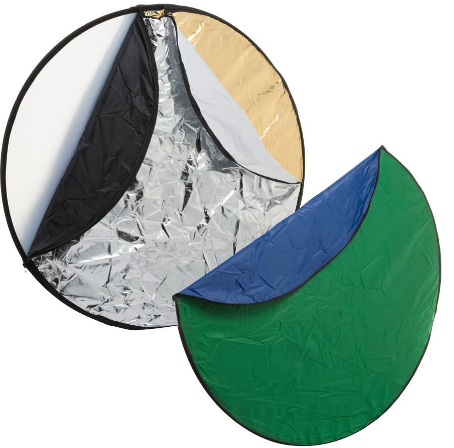 BRESSER BR-TR2 7-in-1 Diffusore pieghevole Riflettore pieghevole Fondale pieghevole, circolare 56cm