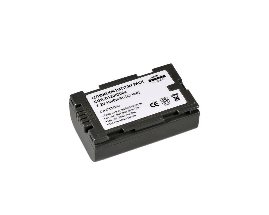 BRESSER Batteria ricaricabile agli ioni di litio / Batteria sostitutiva per Panasonic CGR-D120/CGR-D08S