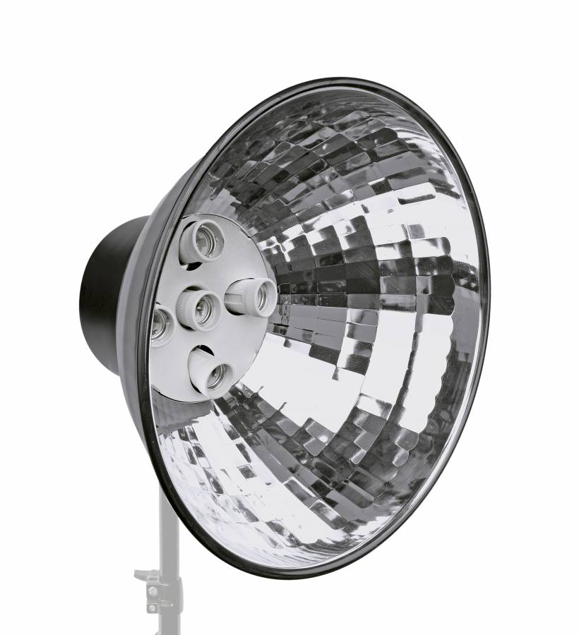 BRESSER MM-06 Lampholder with reflector for 5 spiral lamps