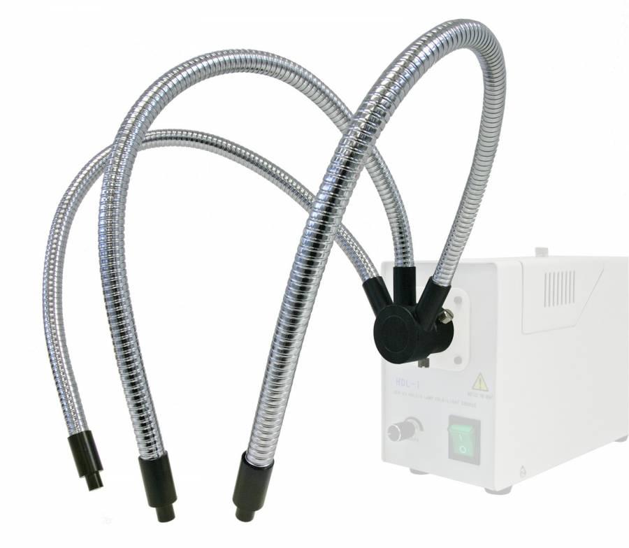 BRESSER Triple cable de brazo flexible de fibra óptica