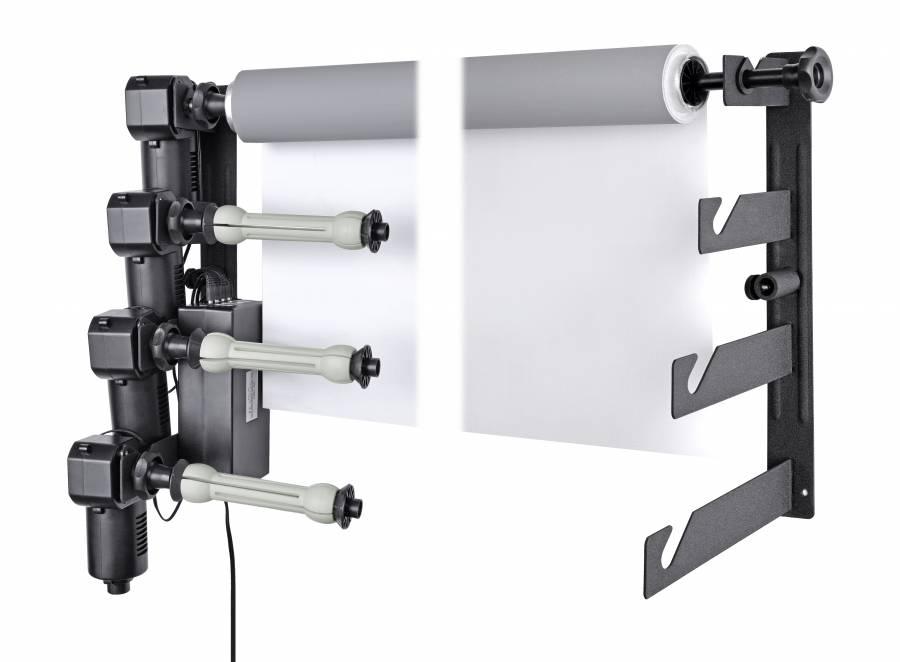 Portafondali elettrico a muro BRESSER MB-4Y per 4 rotoli