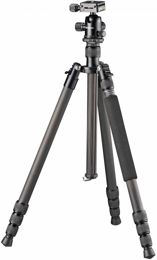 BRESSER BR-2504X8C-B1 Carbon Camera Tripod also usable as Monopod or Ground Level Tripod