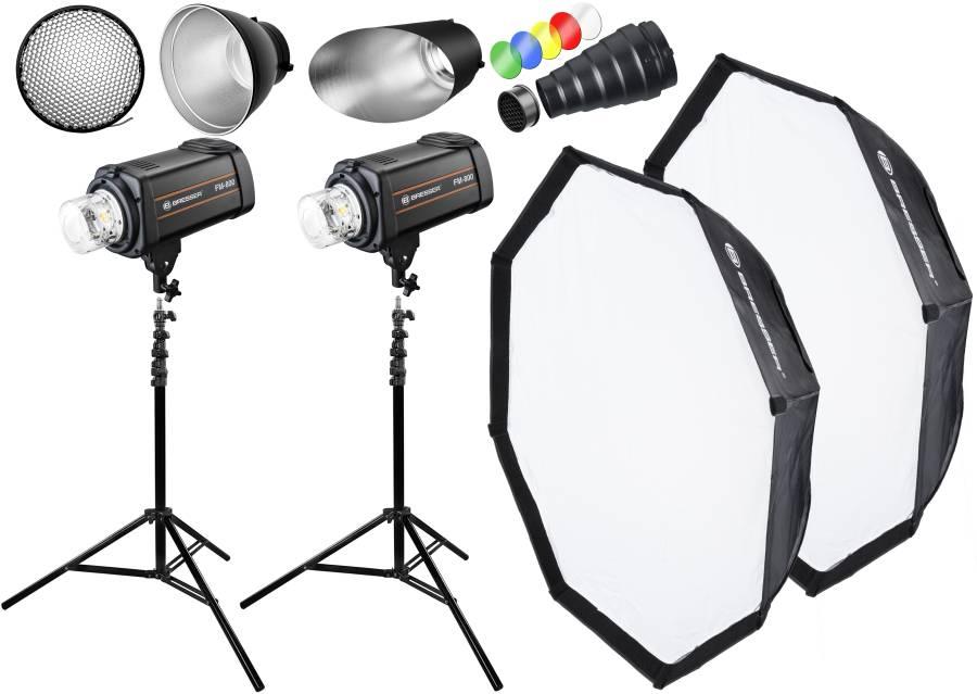 BRESSER Studio Flash Set: 2x FM-800 + Promozione pacchetto 1