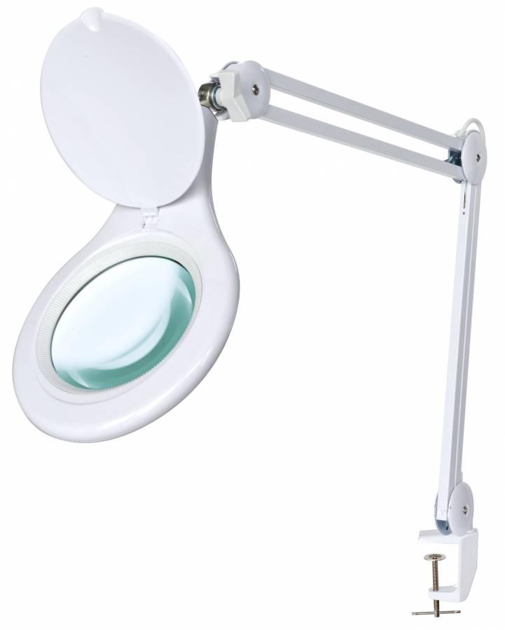 Bresser 2x 125mm Magnifying Clamp On Led Desk Lamp