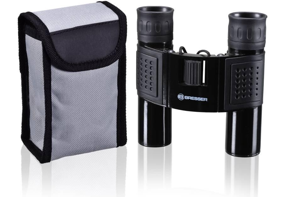 BRESSER Prismáticos 10x25 con carcasa de metal robusta y revestimiento de goma antideslizante / Perfecto para excursiones, eventos deportivos y observación de animales