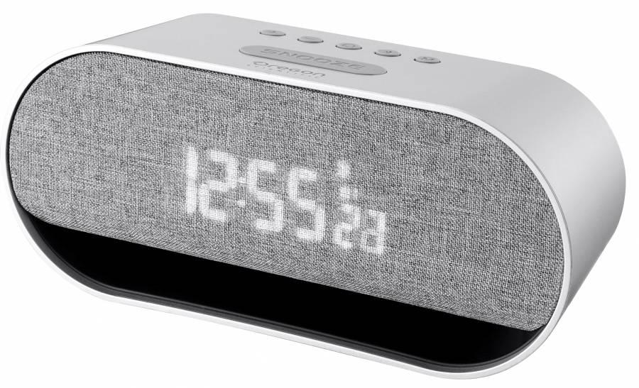 Oregon Scientific Wecker mit integriertem Bluetooth Stereo-Lautsprechern und Smartphone-Ladefunktion
