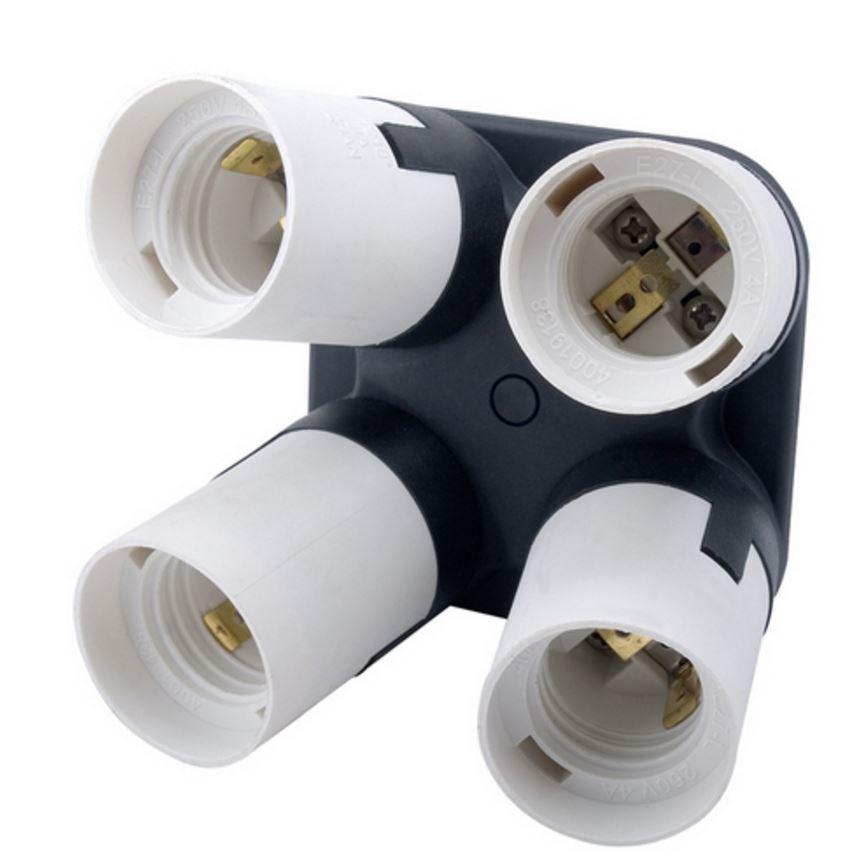 Portalampada BRESSER JDD-8 per 4 Lampadine con Filettatura E27
