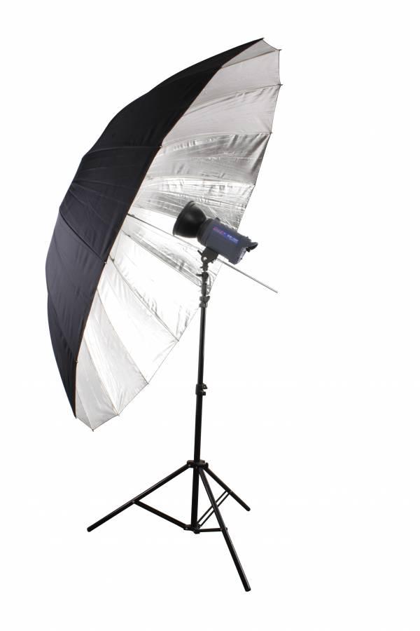 BRESSER SM-09 Jumbo Reflexschirm silber/schwarz 180 cm
