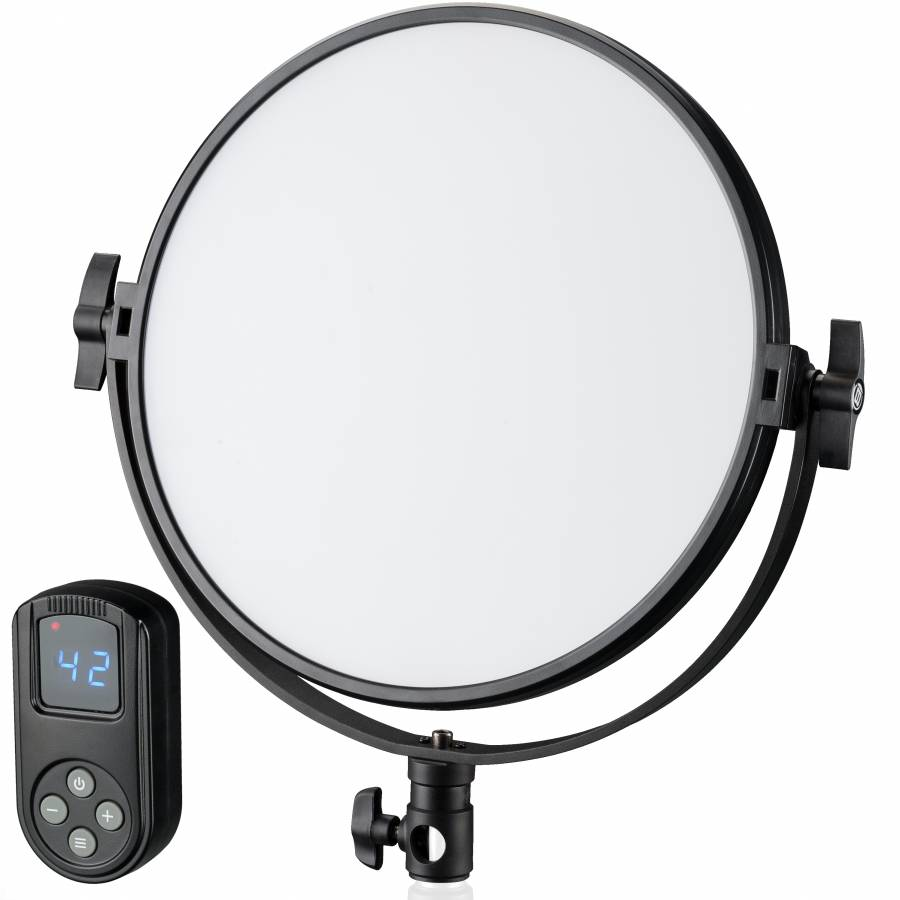 BRESSER BR-S60B Soft Bi-Color runde LED-Flächenleuchte 30 cm Durchmesser