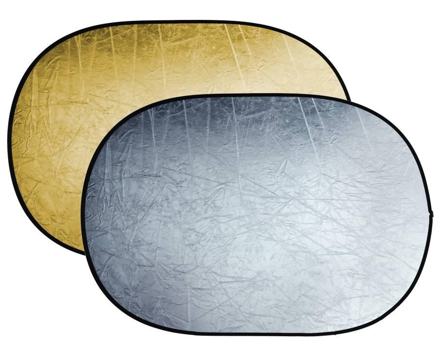 Reflector plegable 2-en-1 BRESSER BR-TR5 oro/plata de 120x180cm