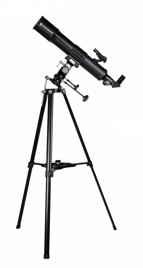 BRESSER Taurus 90/500 NG - Telescopio refractor con Adaptador de Cámara de Smartphone