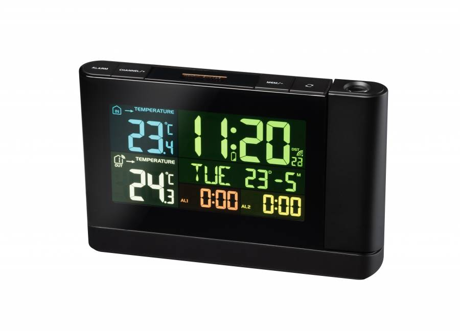 BRESSER Meteo TP Projection Clock with Color Display