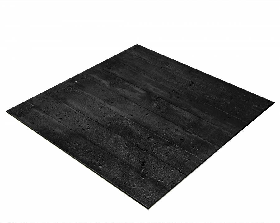 BRESSER Flat Lay Background for Tabletop Photography 60x60cm black Wood Planks
