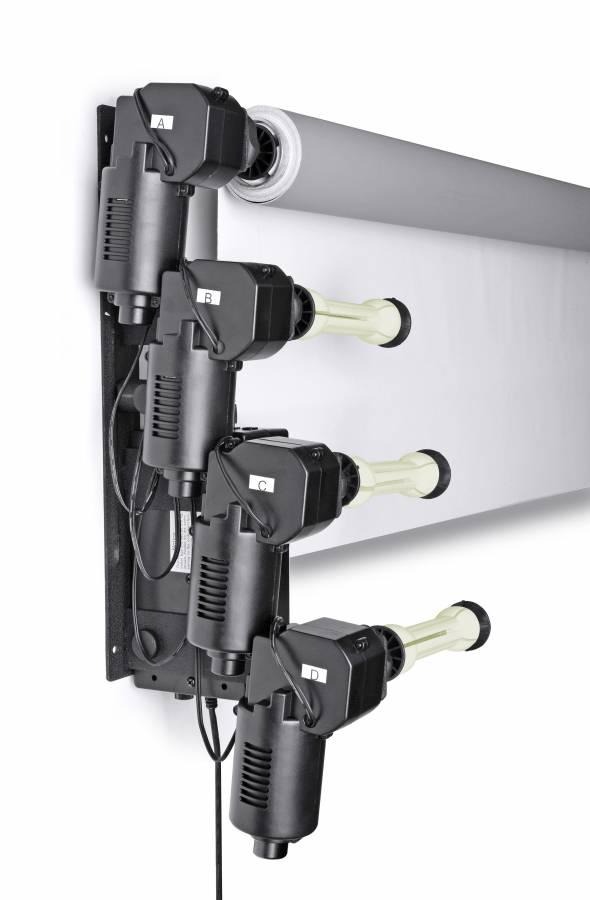 BRESSER MB-6Y Support mural électrique pour 6 Fonds de Studio en Papier