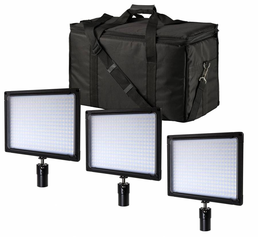 BRESSER SH-360 LED Flächenleuchten 3er Set
