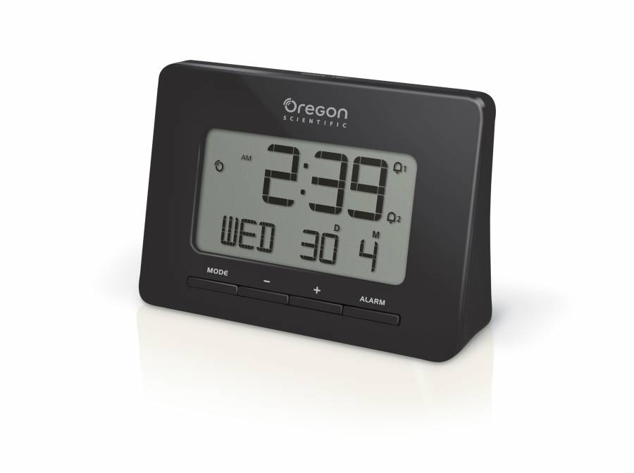 Oregon Scientific radio-controlled alarm clock black with Dual Alarm Function