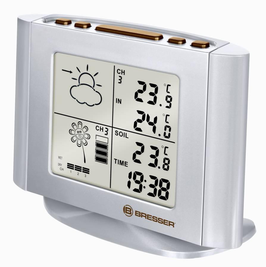 BRESSER estación meteorológica e indicador de riego