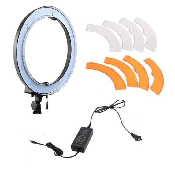 BRESSER BR-RL18 dimmbare LED Tageslicht-Ringleuchte 55W/5760 Lumen mit Tasche