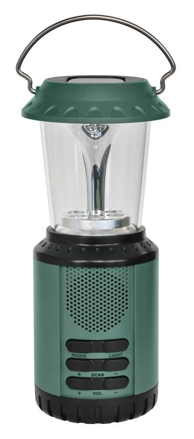 BRESSER Lampada LED e caricabatteria solare / dinamo